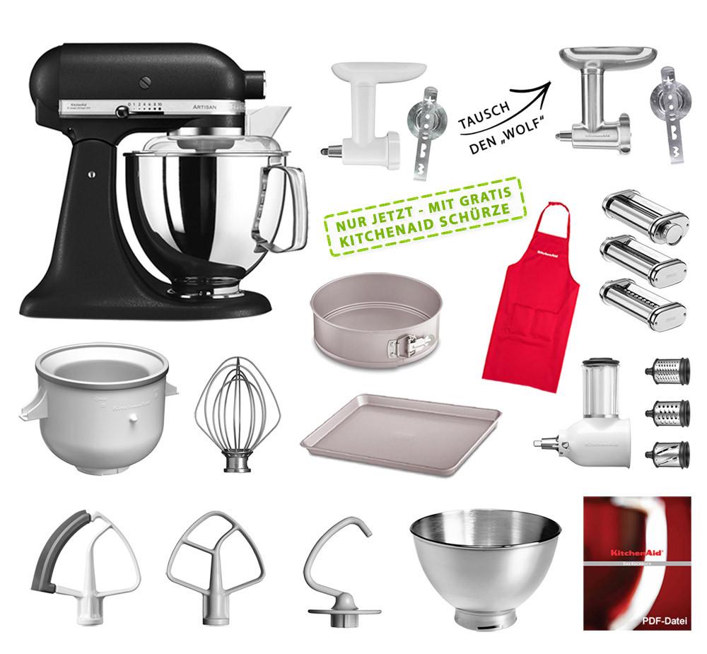 KitchenAid Artisan Küchenmaschine Mega-Paket gusseisenschwarz