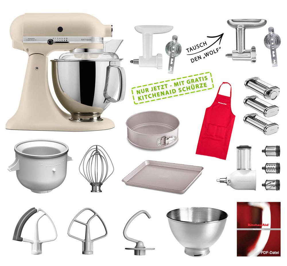 KitchenAid Küchenmaschine 175PS Mega-Paket Fresh Linen