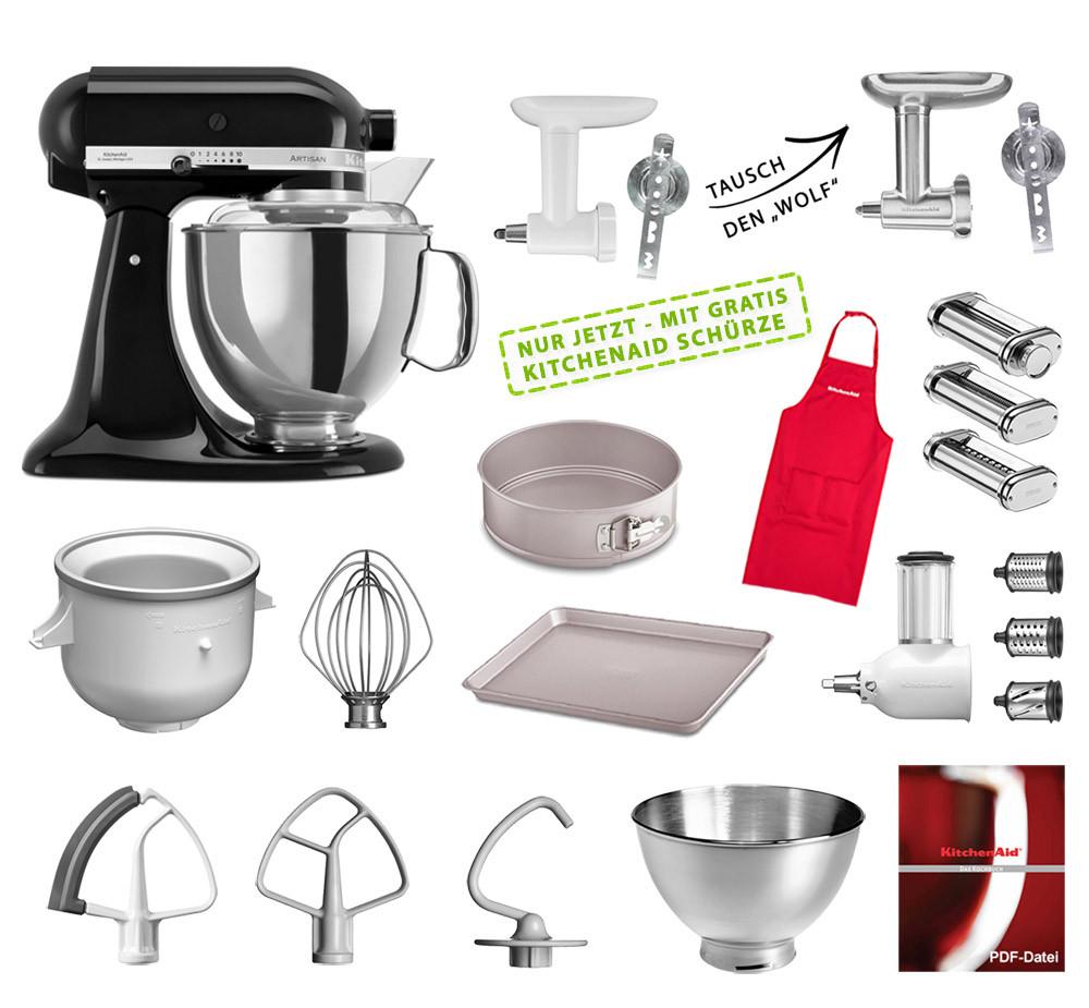 KitchenAid Küchenmaschine 175PS Mega-Paket onyx schwarz