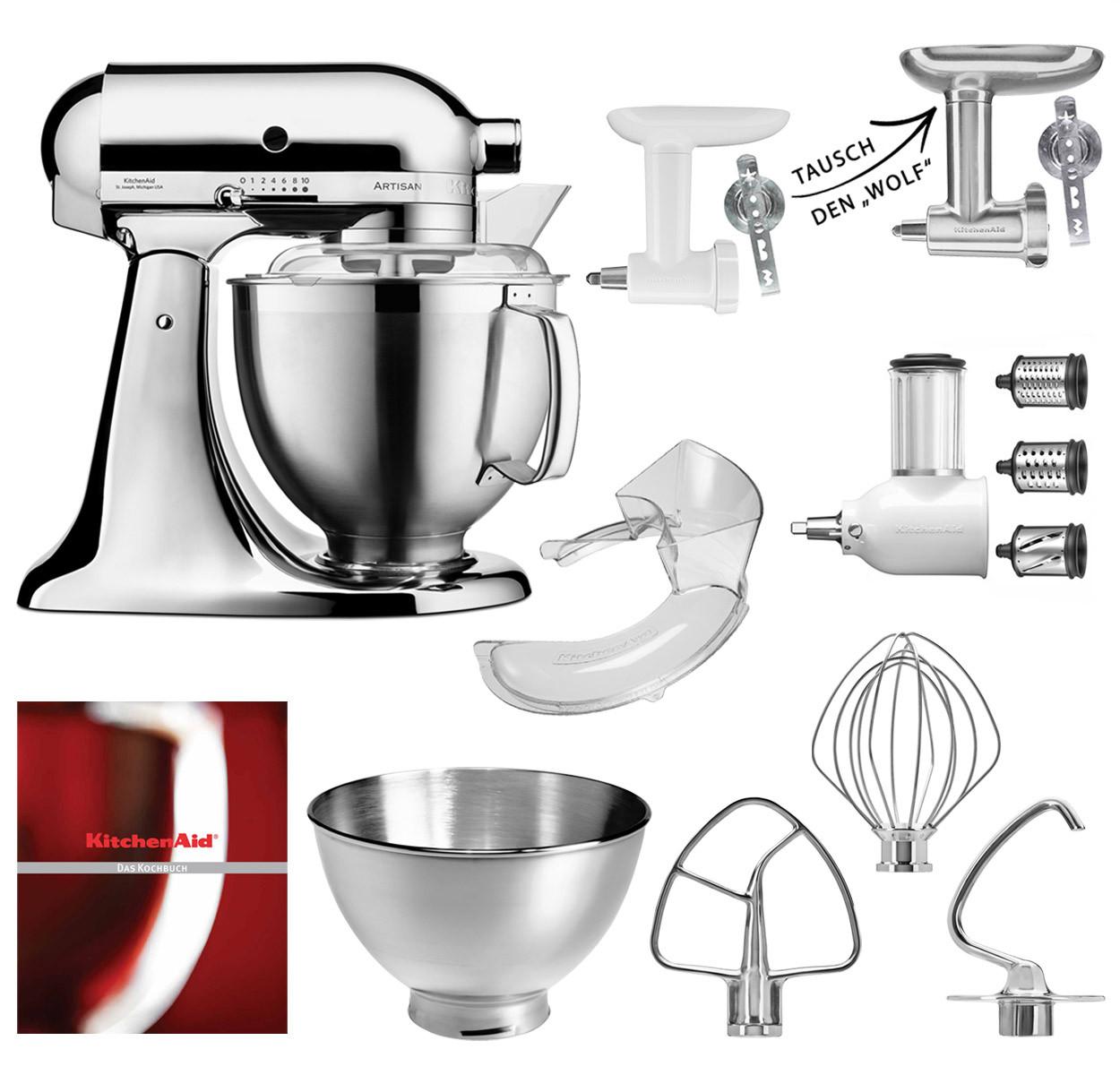 KitchenAid Küchenmaschine 185PS Fleischwolf Gemüse Set Premium Edition