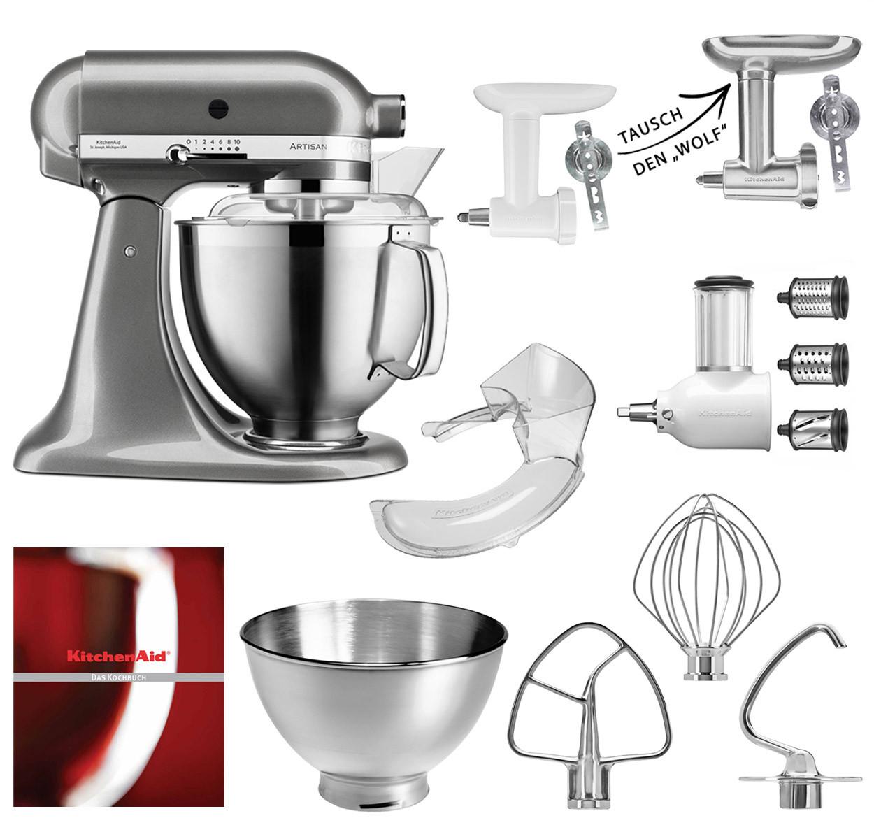 KitchenAid Küchenmaschine 185PS Option Fleischwolf Tauschen