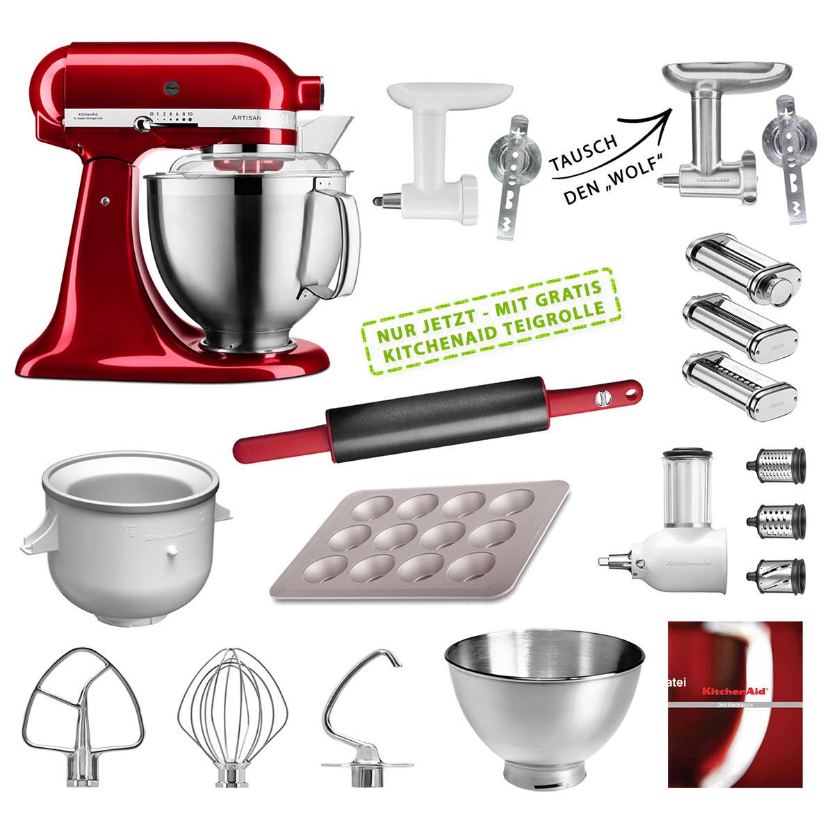 KitchenAid Küchenmaschine 185PS Mega-Paket versch. Farben im Suhl Shop