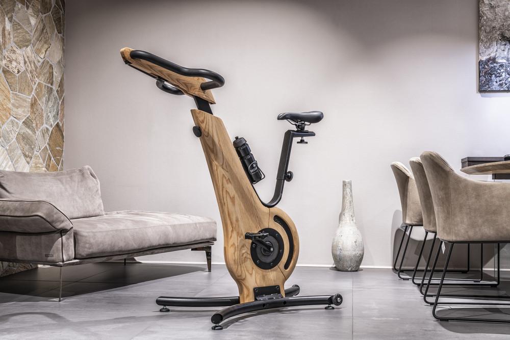 NOHrD Bike Eiche - Fahrradergometer aus massivem Eichenholz
