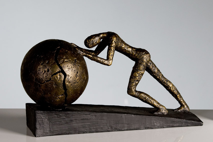 Casablanca Skulptur Figur Heavy Ball bronze 21,5 x 37 cm