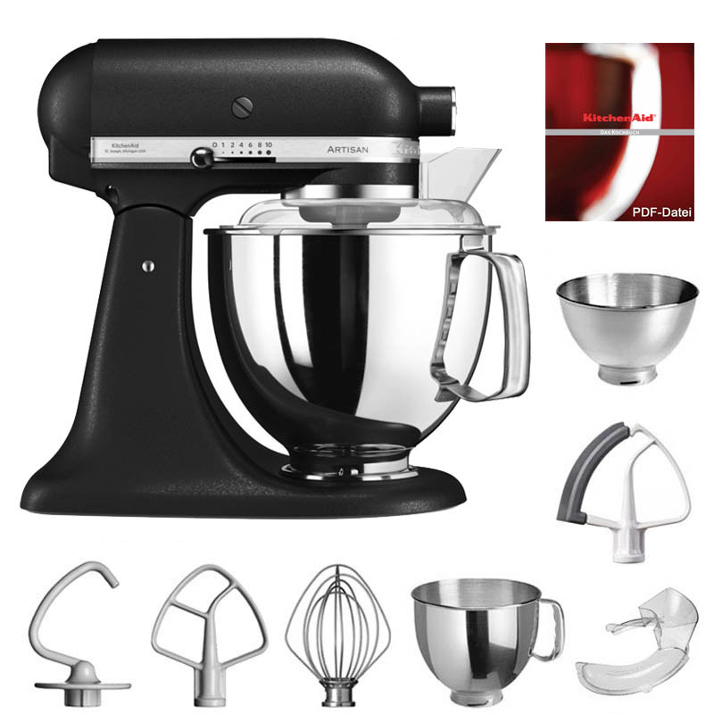 kitchenaid artisan k chenmaschine 4 8l gusseisen schwarz. Black Bedroom Furniture Sets. Home Design Ideas