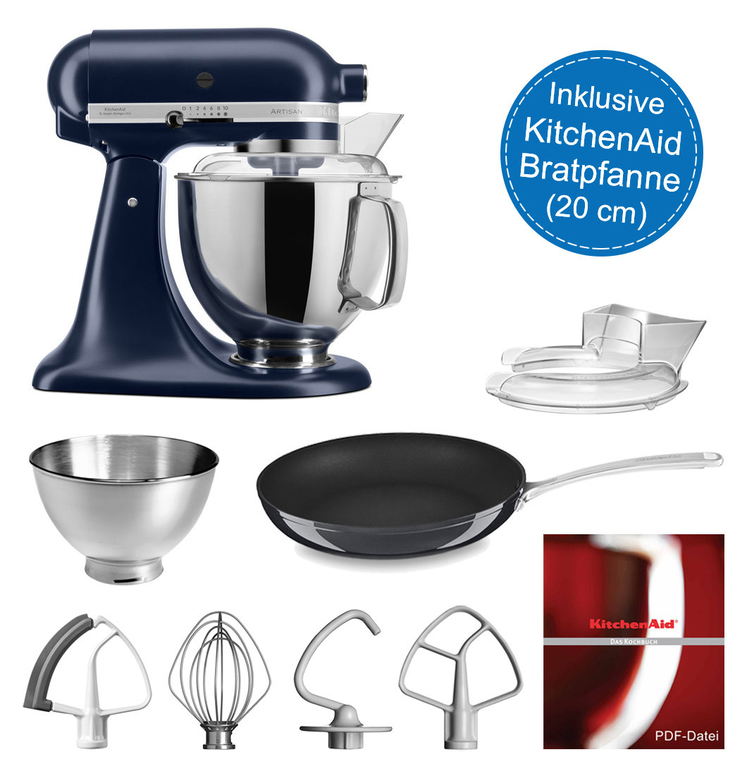 KitchenAid Artisan Küchenmaschine 175PS Tintenblau 4,8 Liter inkl. 20-cm Pfanne