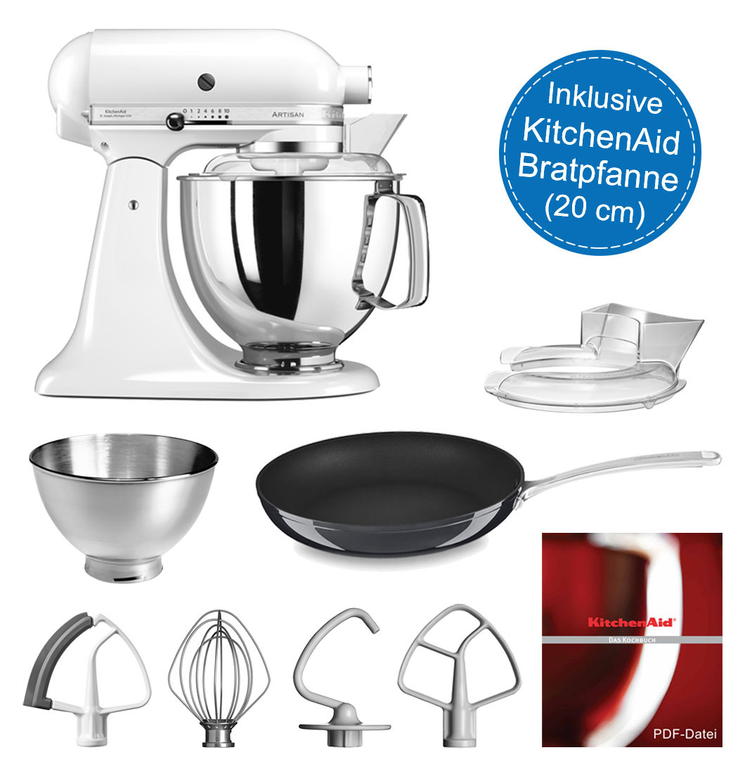 KitchenAid Artisan Küchenmaschine 4,8l im Set mit 20-cm Bratpfanne