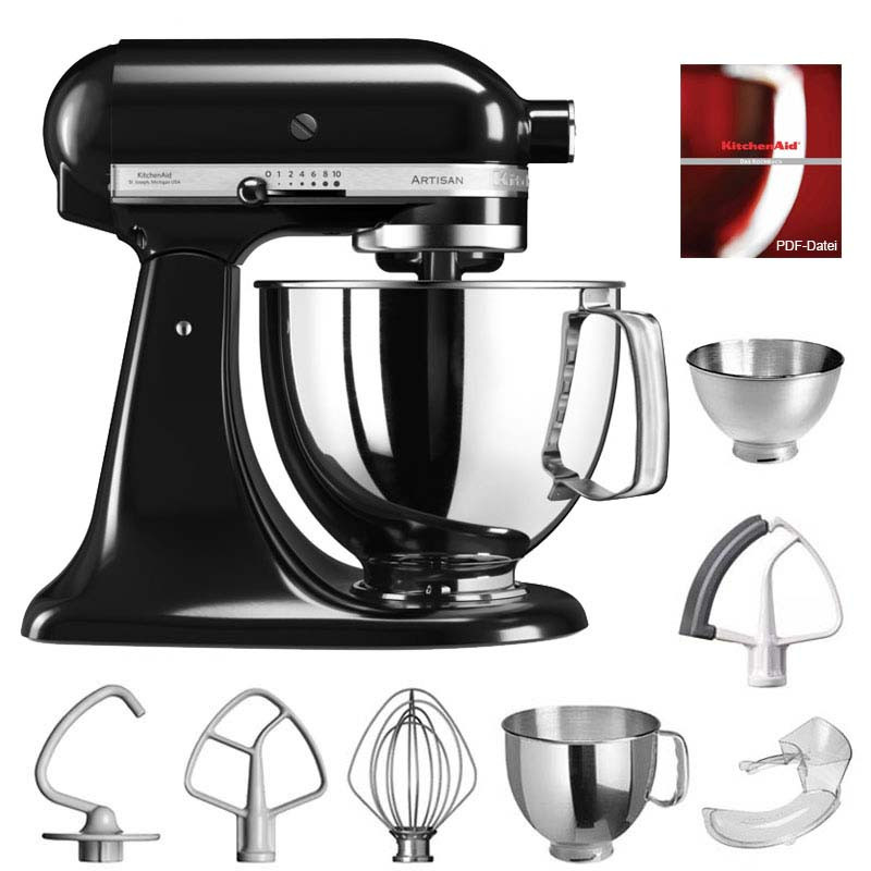 kitchenaid artisan k chenmaschine 4 8l onyxschwarz. Black Bedroom Furniture Sets. Home Design Ideas