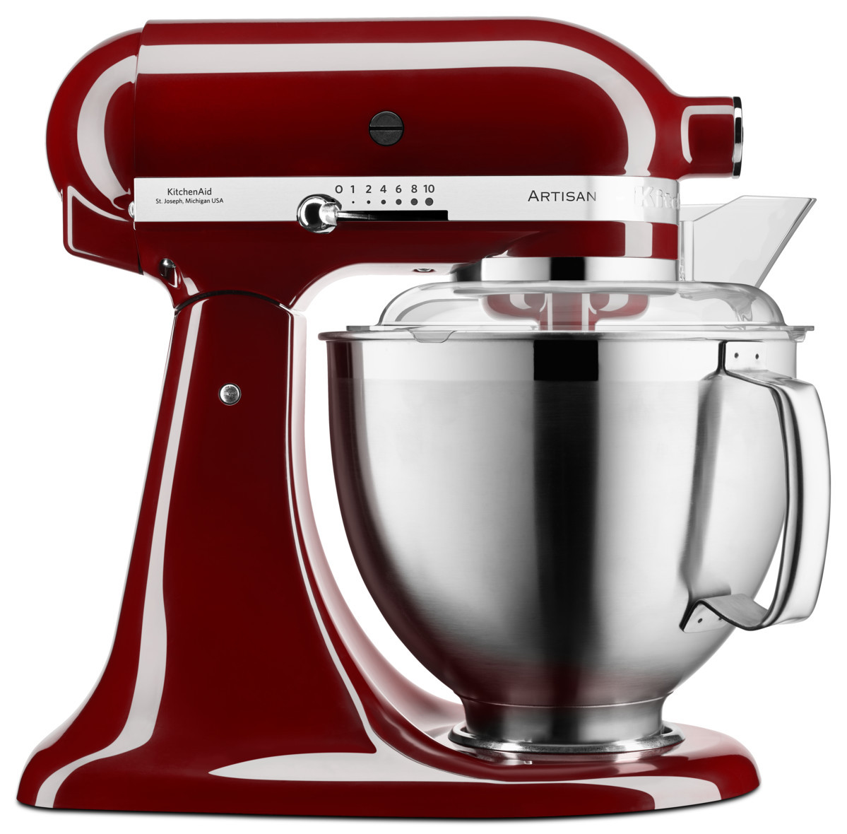 KitchenAid 5KSM185 Foodprocessor Set crimson red