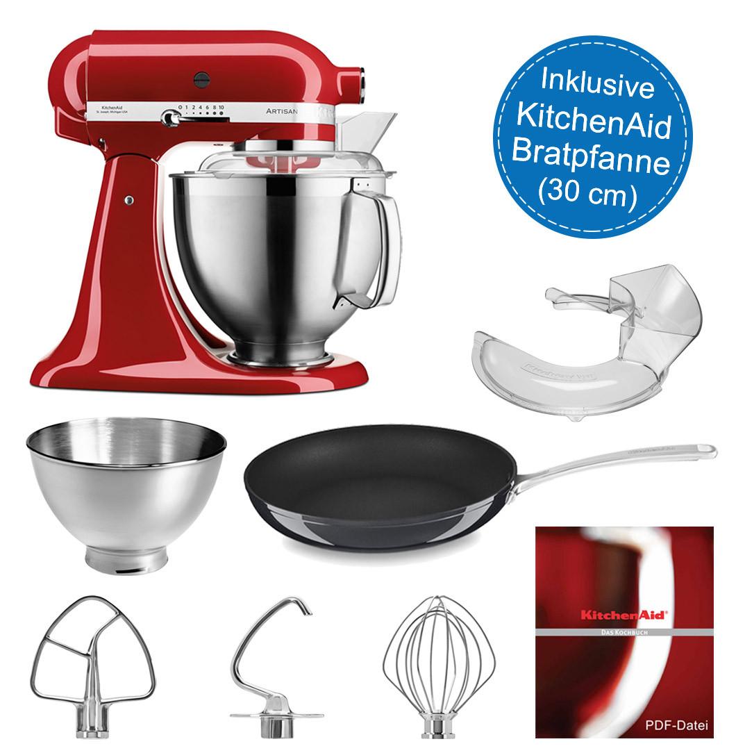 KitchenAid Küchenmaschine 5KSM185PSEER inkl. Ø 30-cm Bratpfanne