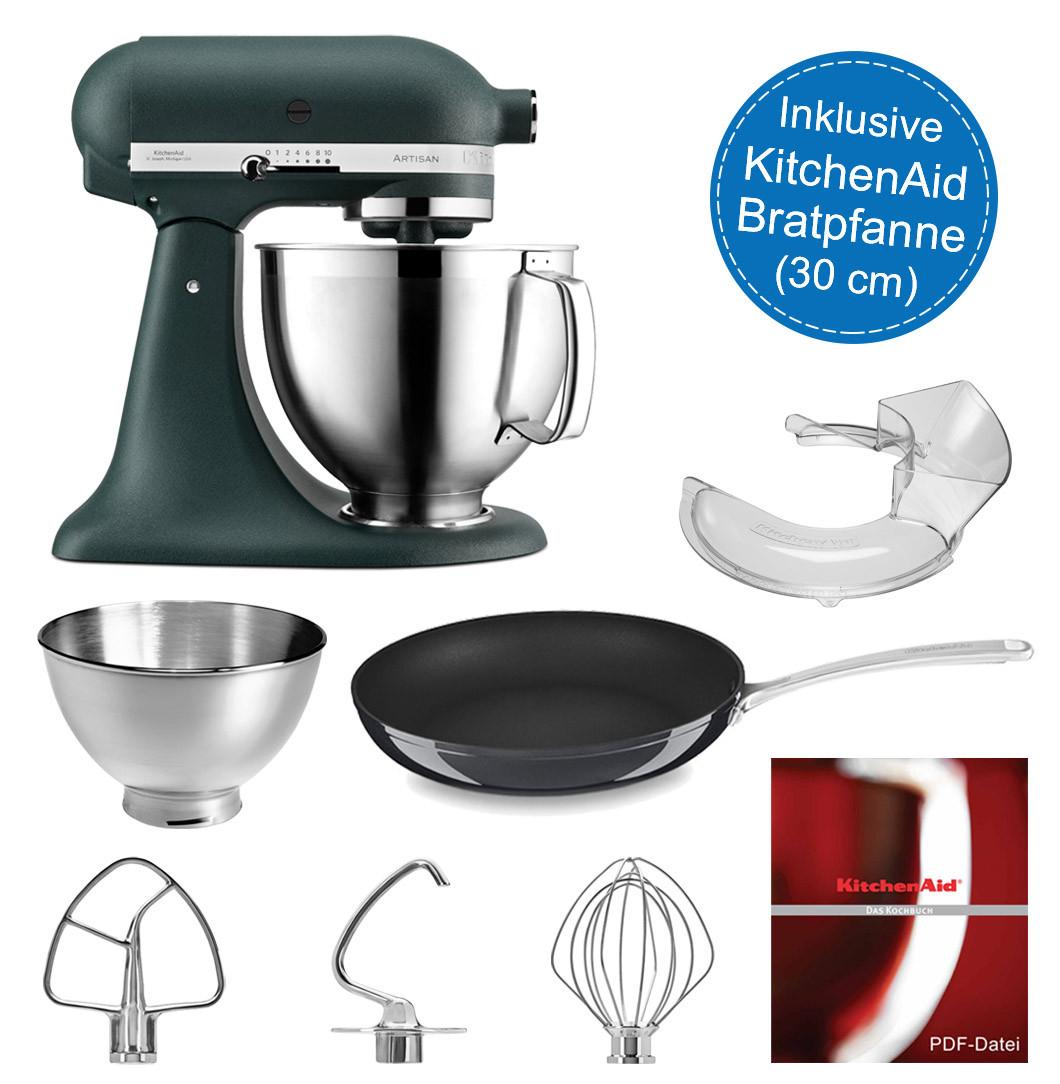 Küchenmaschine 5KSM185PSEPP mit Bratpfanne 30-cm Ø antihaftbeschichtet
