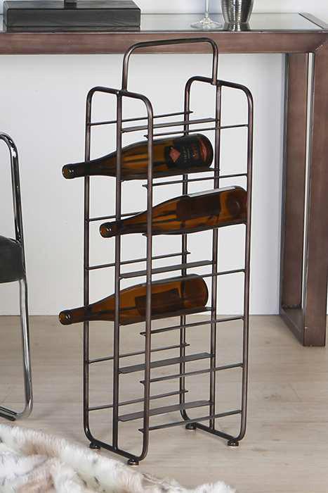 """Casablanca Weinflaschenständer """"Loft"""" Metall/Glas"""