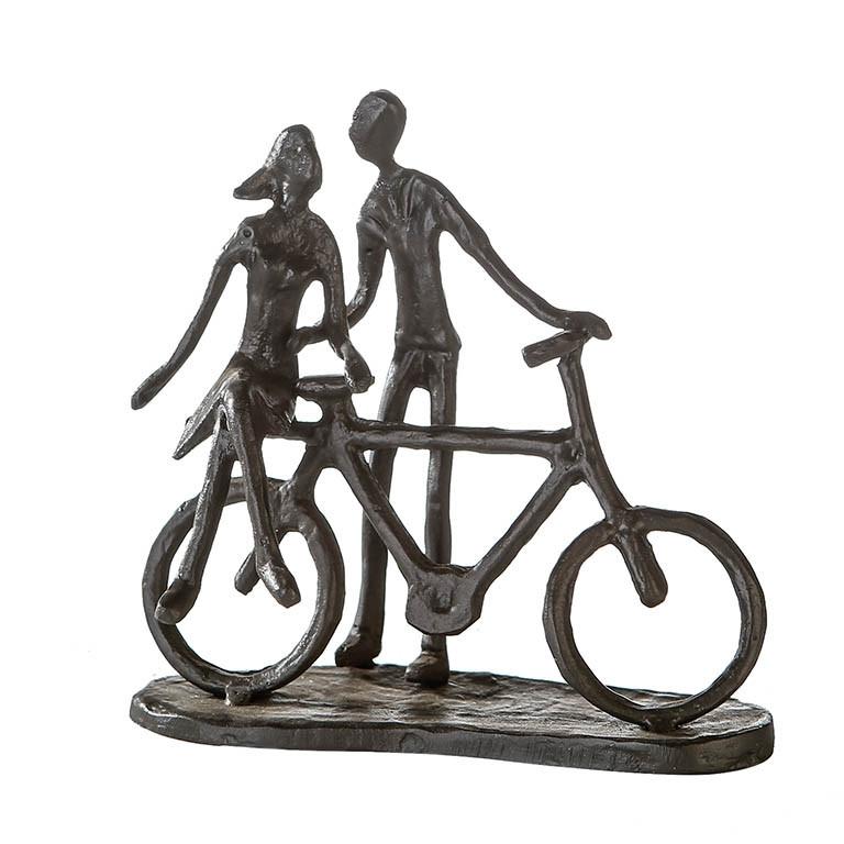 "Casablanca Design Skulptur ""Pair on Bike"" Eisen, brüniert"