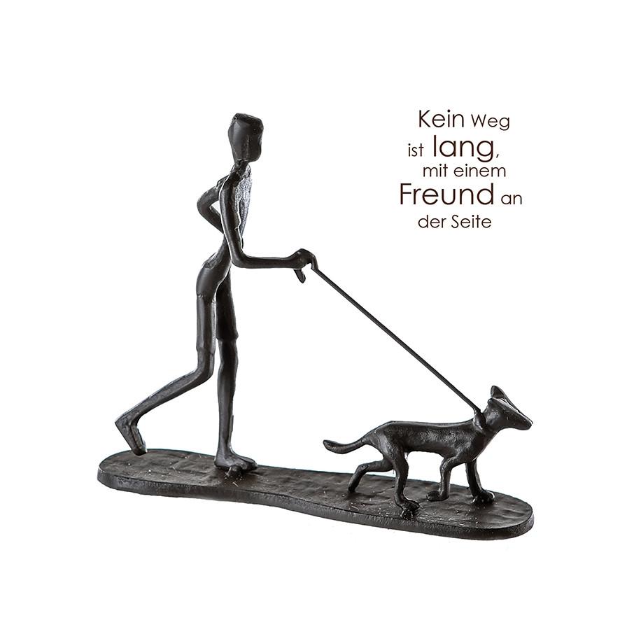 """Casablanca Design Skulptur """"Gassi gehen"""" mit Motivspruch"""