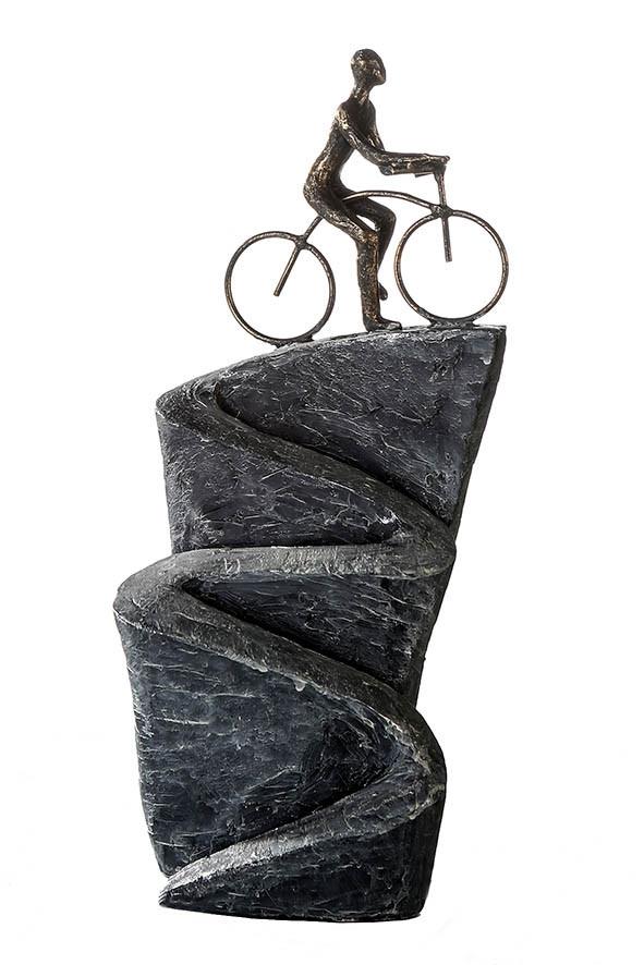 "Casablanca Skulptur ""Aufwärts"" Poly, bronzefinish"