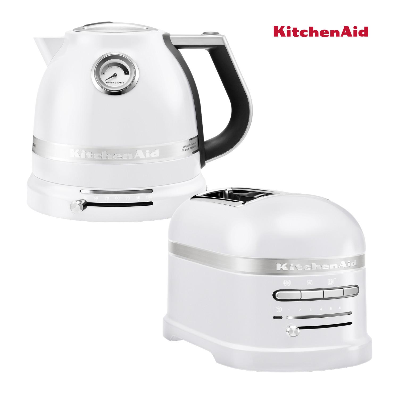 KitchenAid Effect Wasserkocher + Toaster Frosted Pearl