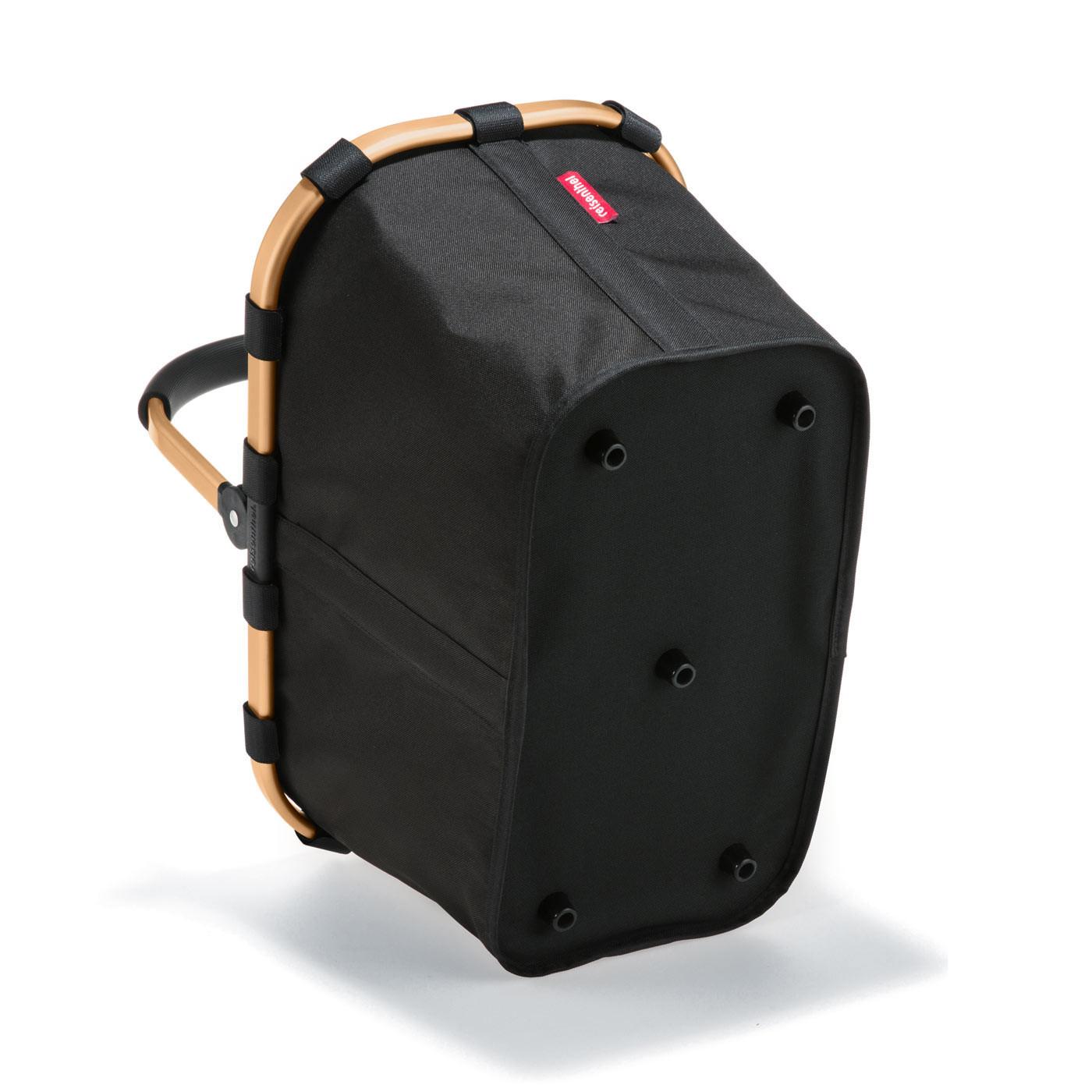 carrybag Einkaufskorb 22l - Schwarz mit goldenem Rahmen