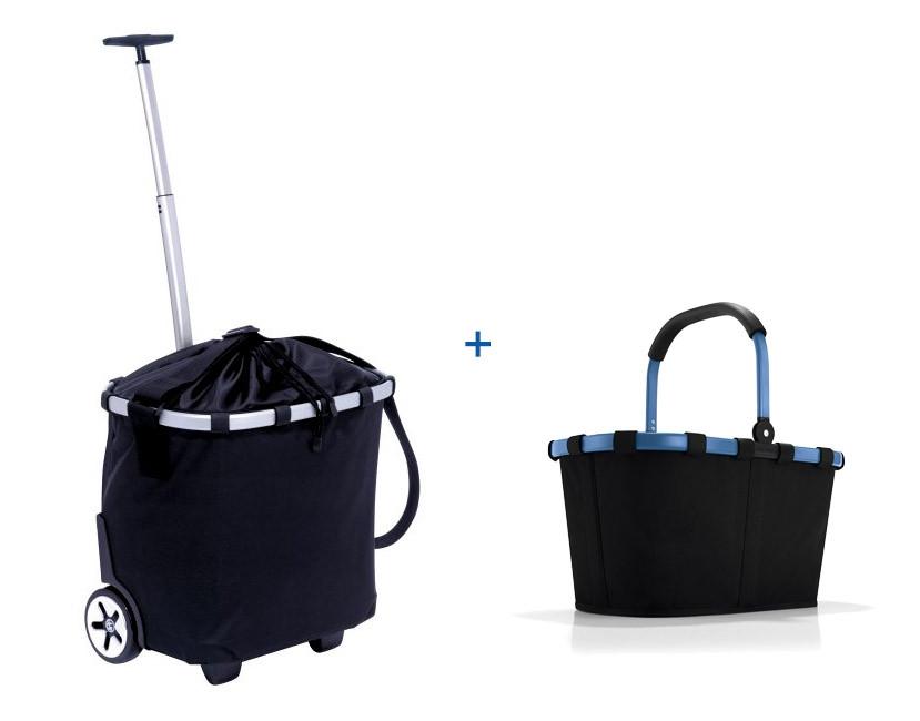 Reisenthel Trolley carrycruiser Schwarz + carrybag 22l GRATIS