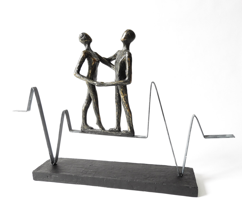 "Skulptur ""Heartbeat"" Poly/Metall von Casablanca Design"