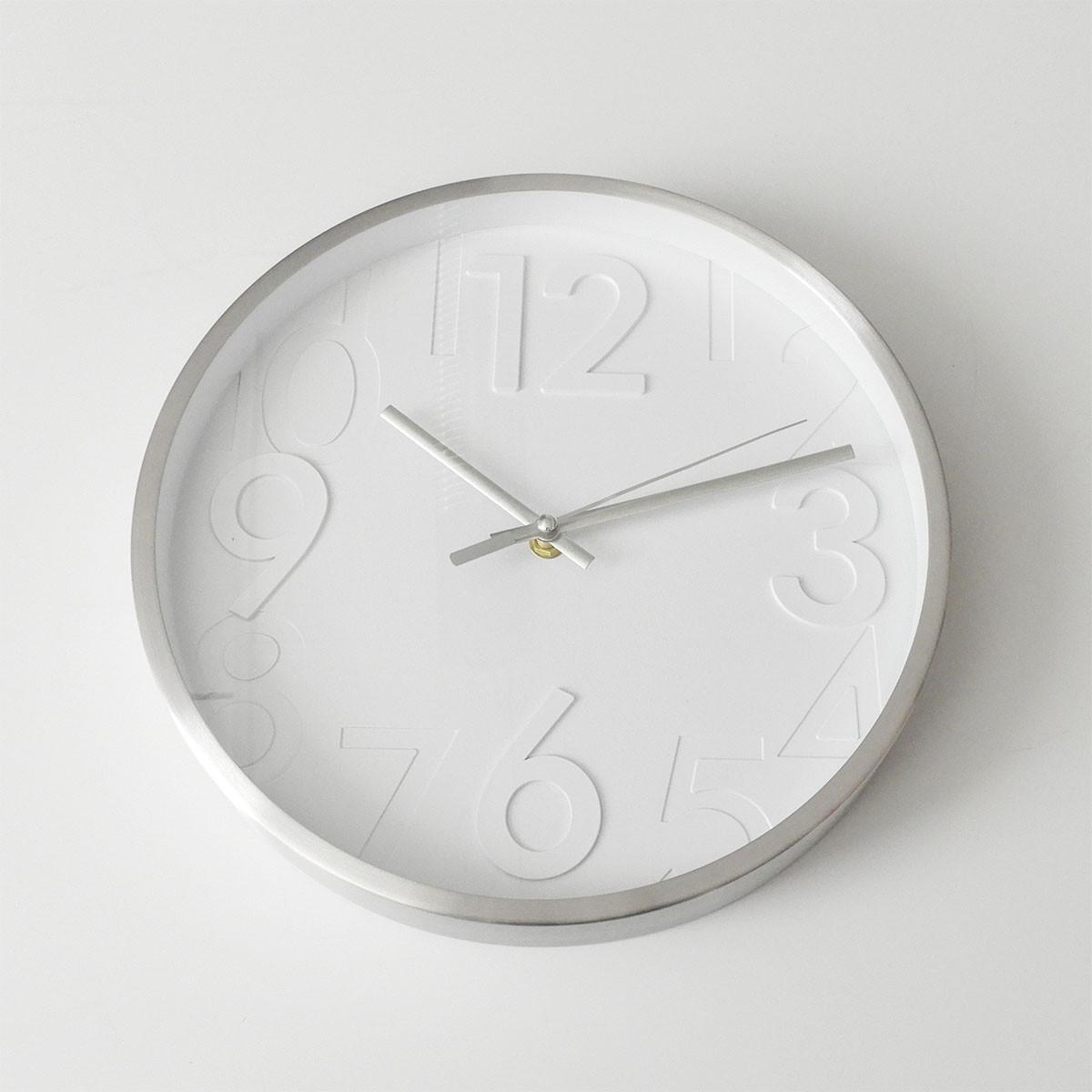 """Casablanca Uhr """"Bianco"""" D: 28 cm Alu gebürstet/Weiß"""