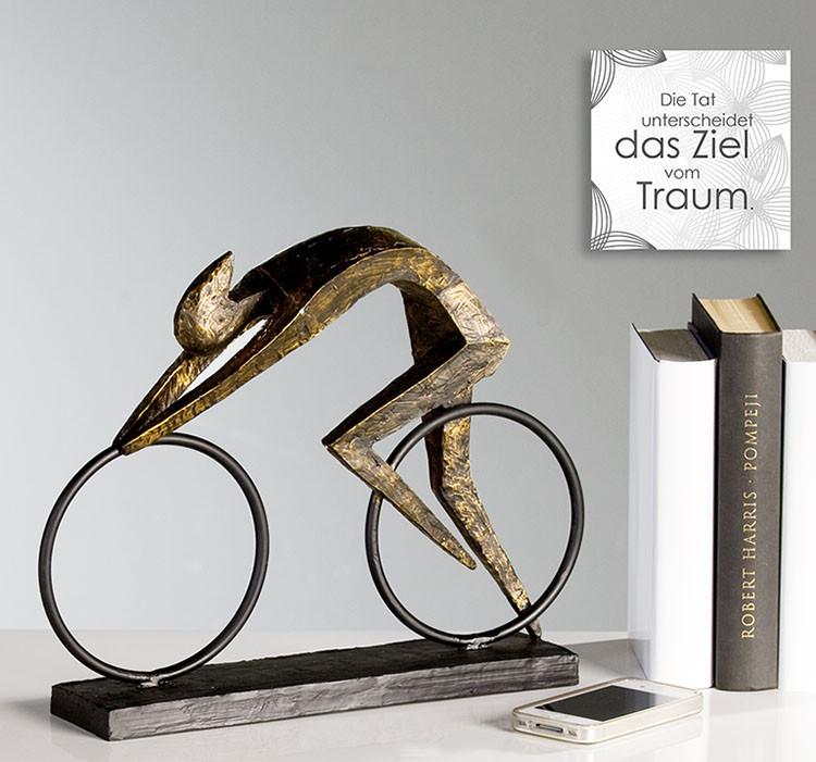 "Casablanca Skulptur ""Racer"" - Radfahrer in moderner Eleganz"