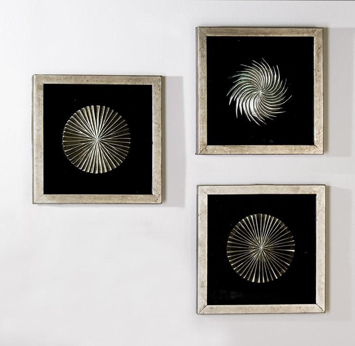 """Casablanca Wandbild """"Prime"""" aus Holz und Glas im 3er Set"""