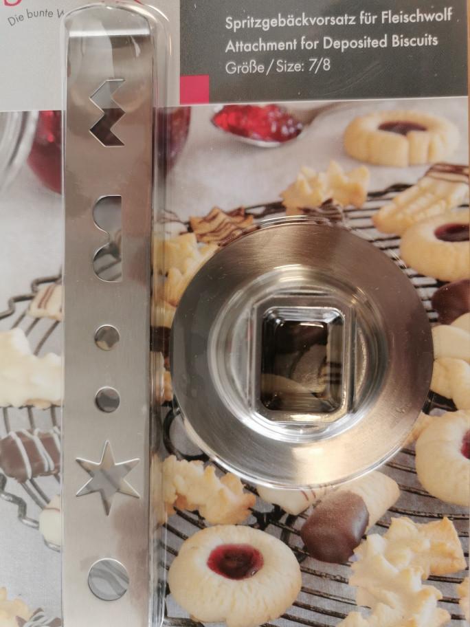 Spritzgebäck-Vorsatz für den Ganzmetallfleischwolf von KitchenAid