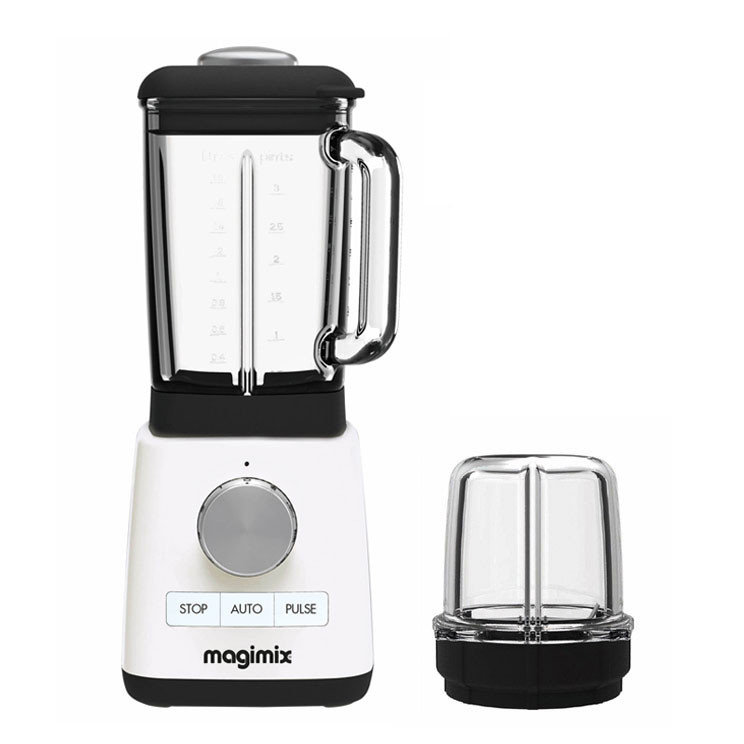 Magimix Blender Standmixer weiss + Mini Behälter