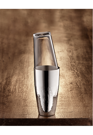 Martelé Cocktailshaker mit Glas