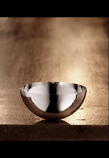 Martelé Schale 12cm, glatter Rand