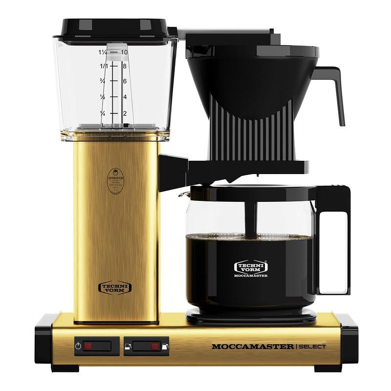 Moccamaster Kaffeemaschine KBG Select Messing gebürstet