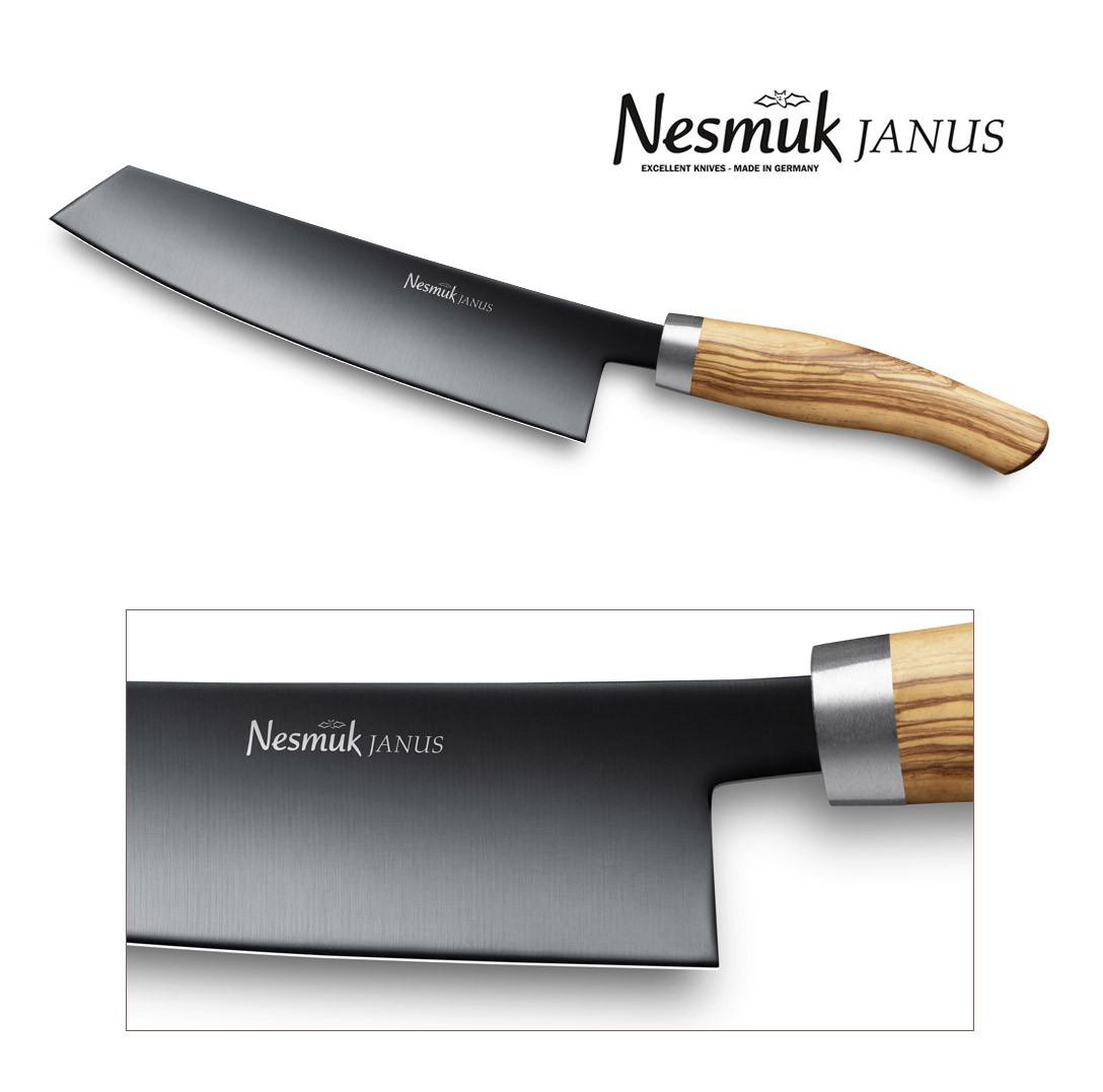 NESMUK JANUS Kochmesser 180 Olive - Detail der Klinge