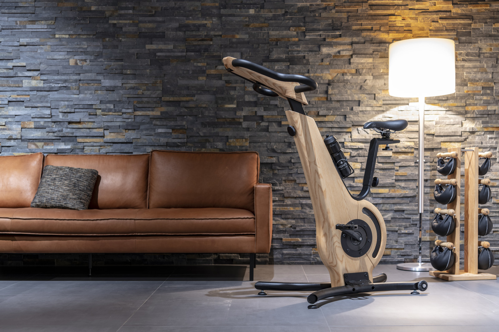 NOHrD Bike Esche - Fahrradergometer aus massivem Eschenholz 22100