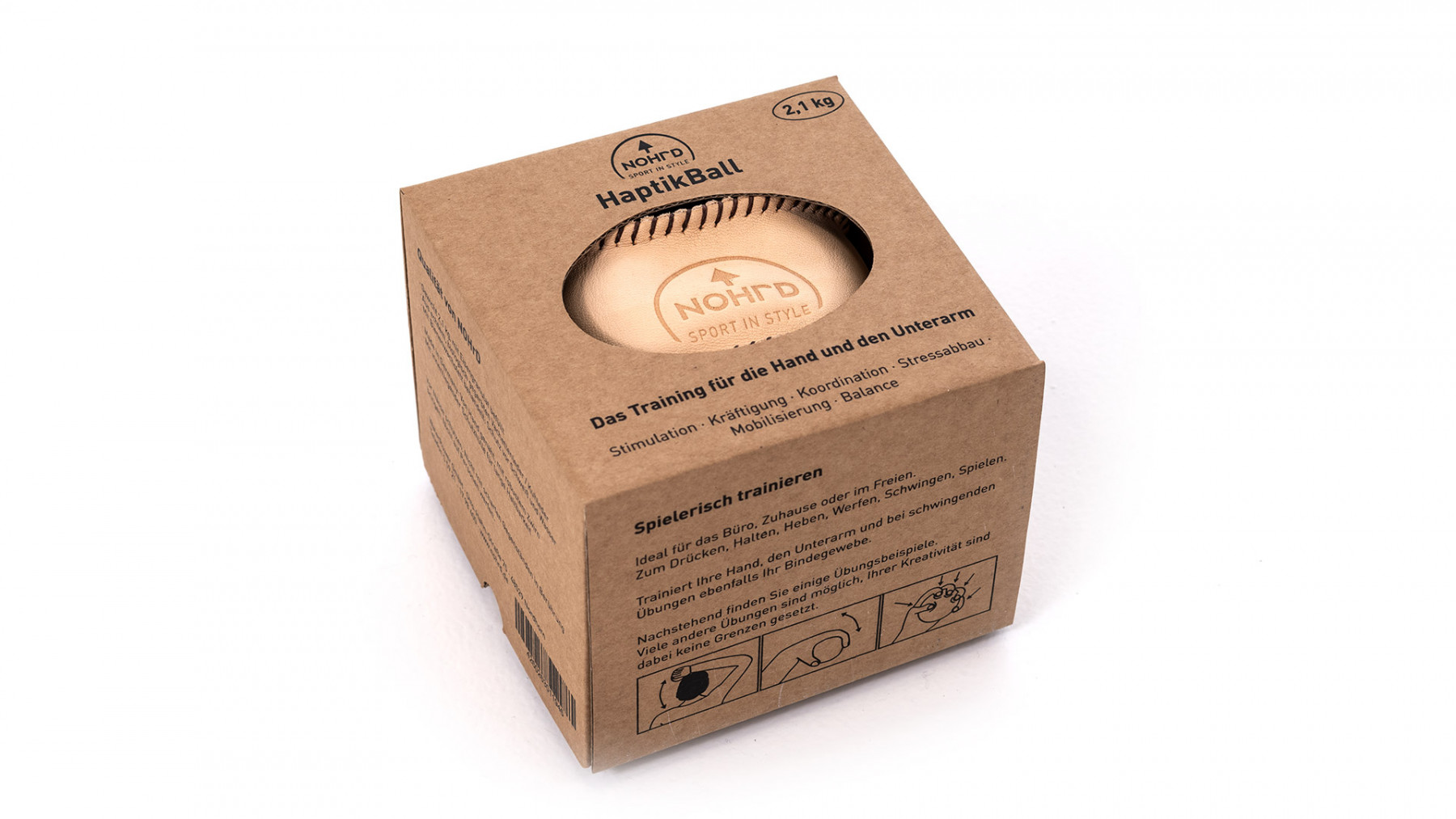 NOHrD HaptikBall 650 g - handgenähte Gewichtsbälle aus Leder,17.101, 4260263011939