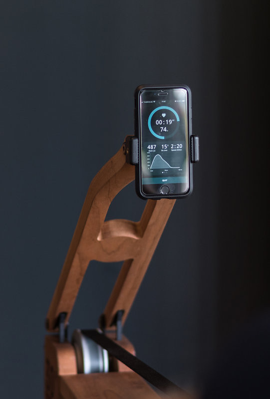 WaterRower Smartphone / Tablet- Halterung Nussbaum - WaterRower Zubehör- WaterRower Zubehör , 10.234, 4260263015678