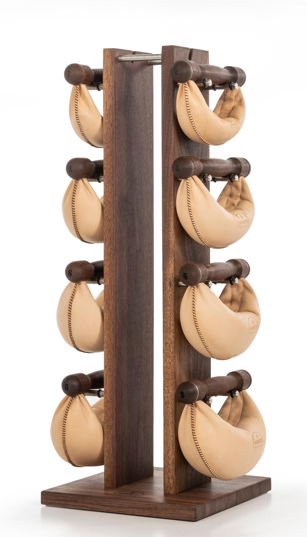 NOHrD Swing Turm Nussbaum - Hanteln aus Vollholz und Leder, 13.210, 4260263010819