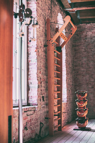 NOHrD WallBars Eiche - Sprossenwand aus massivem Eichenholz, 12110, 4260263010987