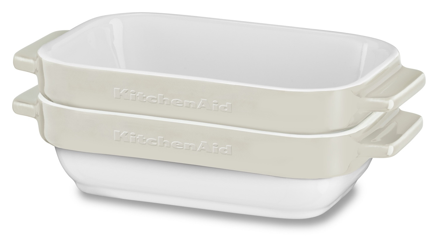 KitchenAid Glaskeramik Mini-Bäcker-Set 2tlg. Crème