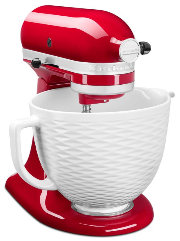 KitchenAid Keramikschüssel 4,7l weiß strukturiert 5KSM2CB5TLW