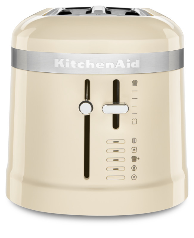 KitchenAid Loft 4 Scheiben Langschlitz-Toaster Design mandel/creme