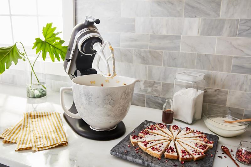 KitchenAid Keramikschüssel 4,7l Floral 5KSM2CB5PWF