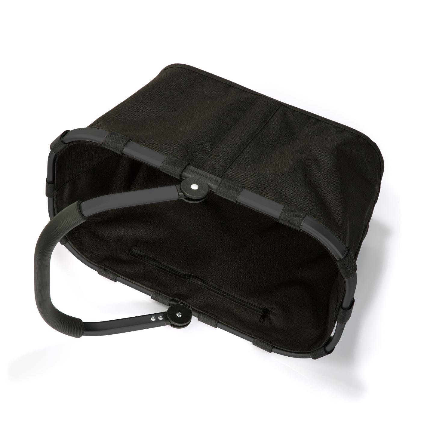 carrybag Einkaufskorb 22l - Schwarz mit schwarzem Rahmen