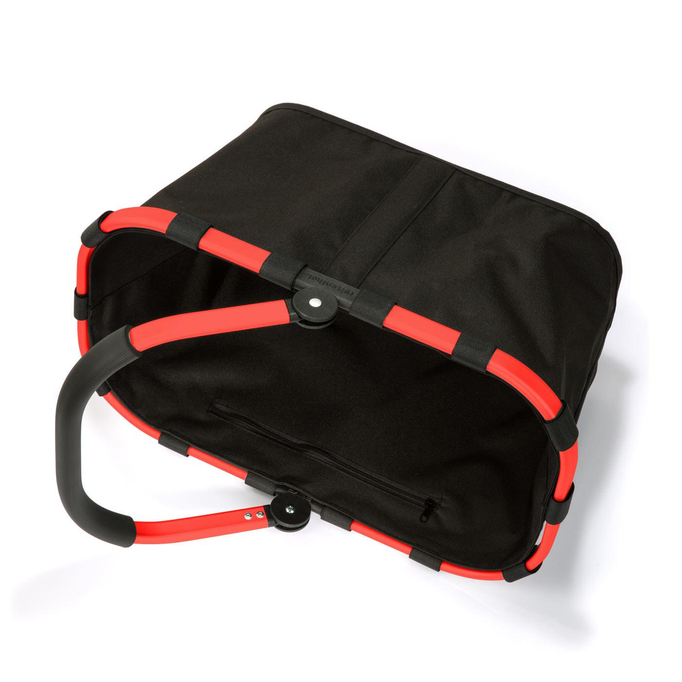 carrybag Einkaufskorb 22l - schwarz mit rotem Rahmen