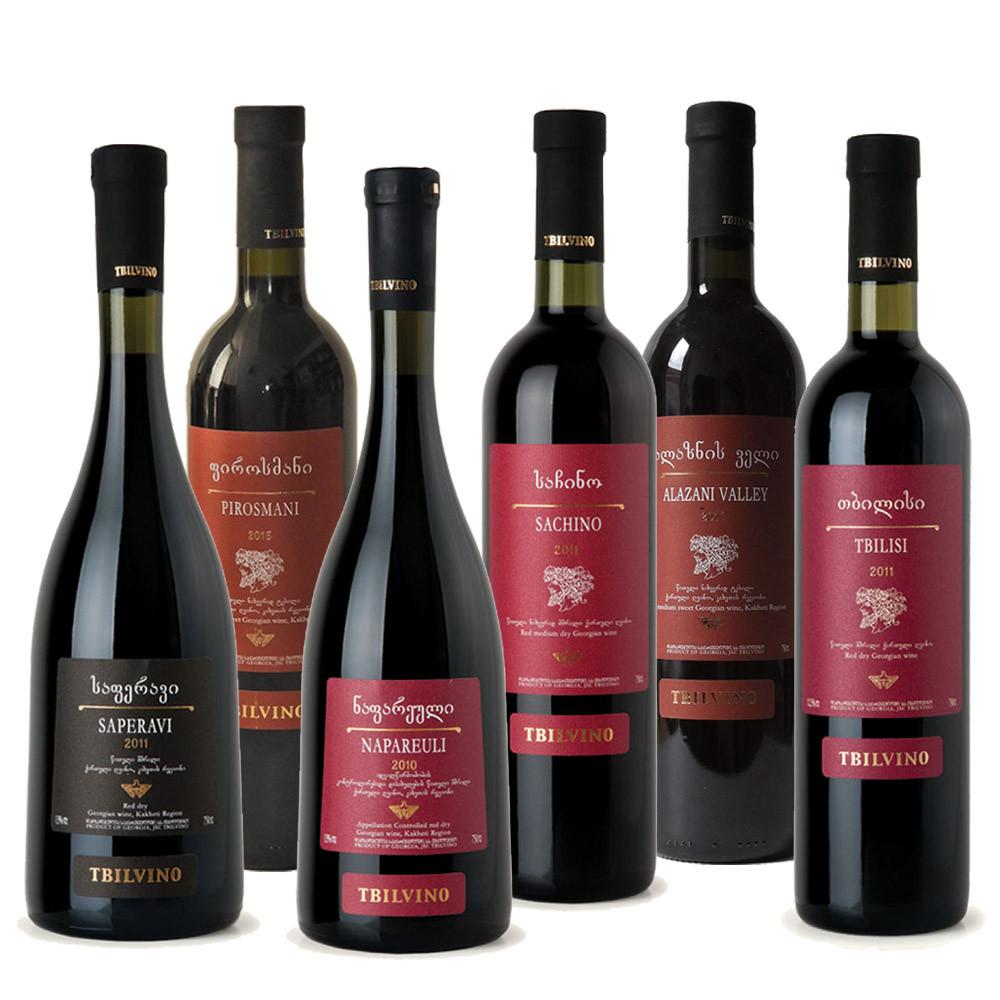 Tbilvino Aktions-Weinsortiment Georgien 6 x Rotwein