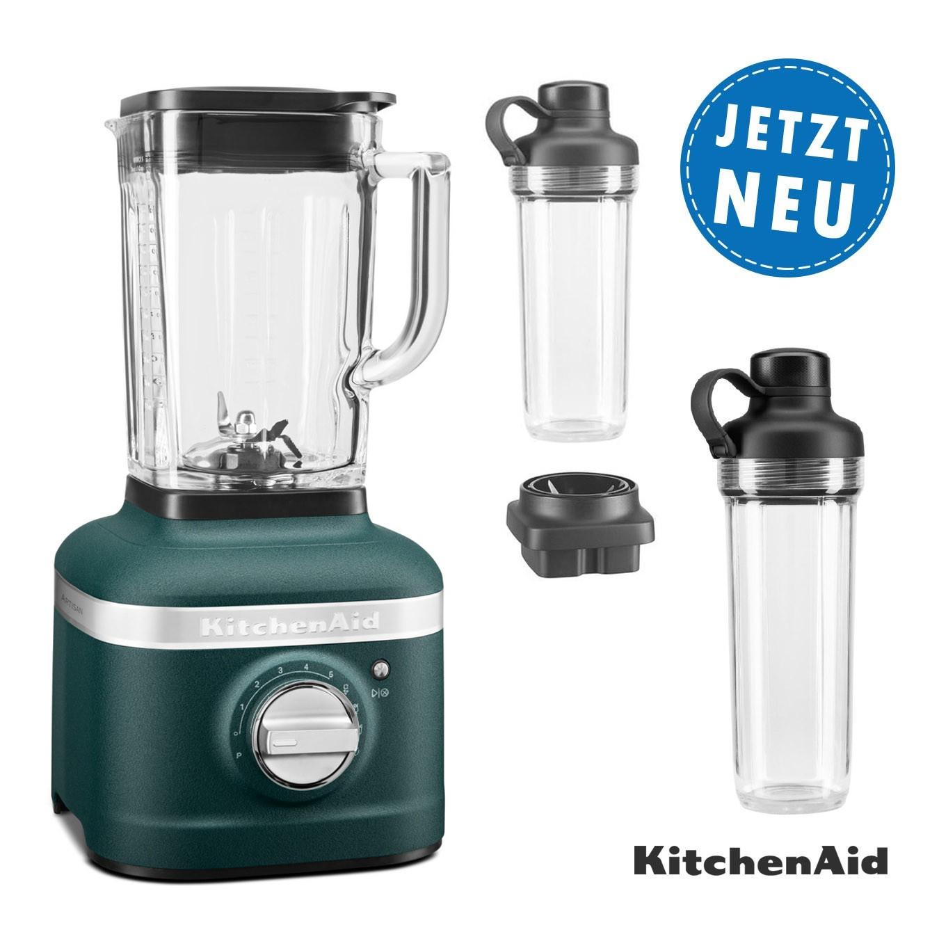 KitchenAid ARTISAN K400 Standmixer 5KSB4026 palmenstrand mit 2xTo-Go-Behälter und Klingen