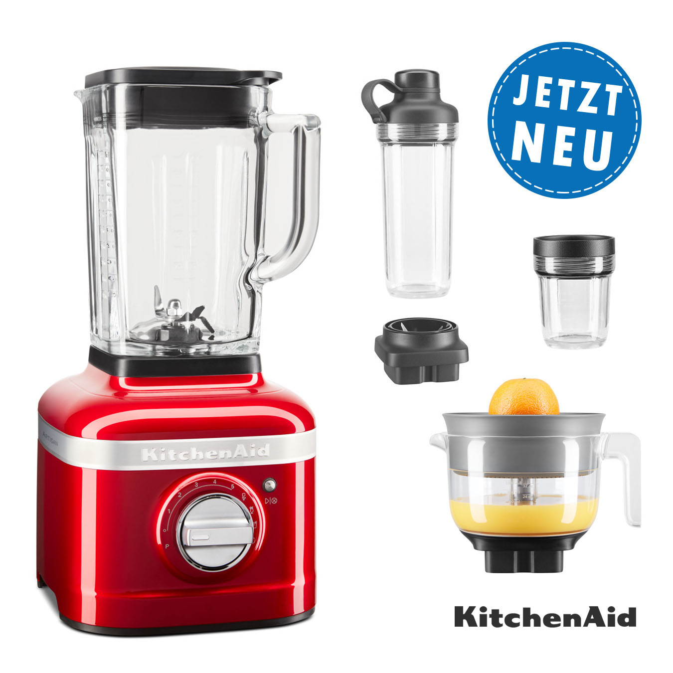 KitchenAid ARTISAN K400 Standmixer 5KSB4026ECA liebesapofelrot
