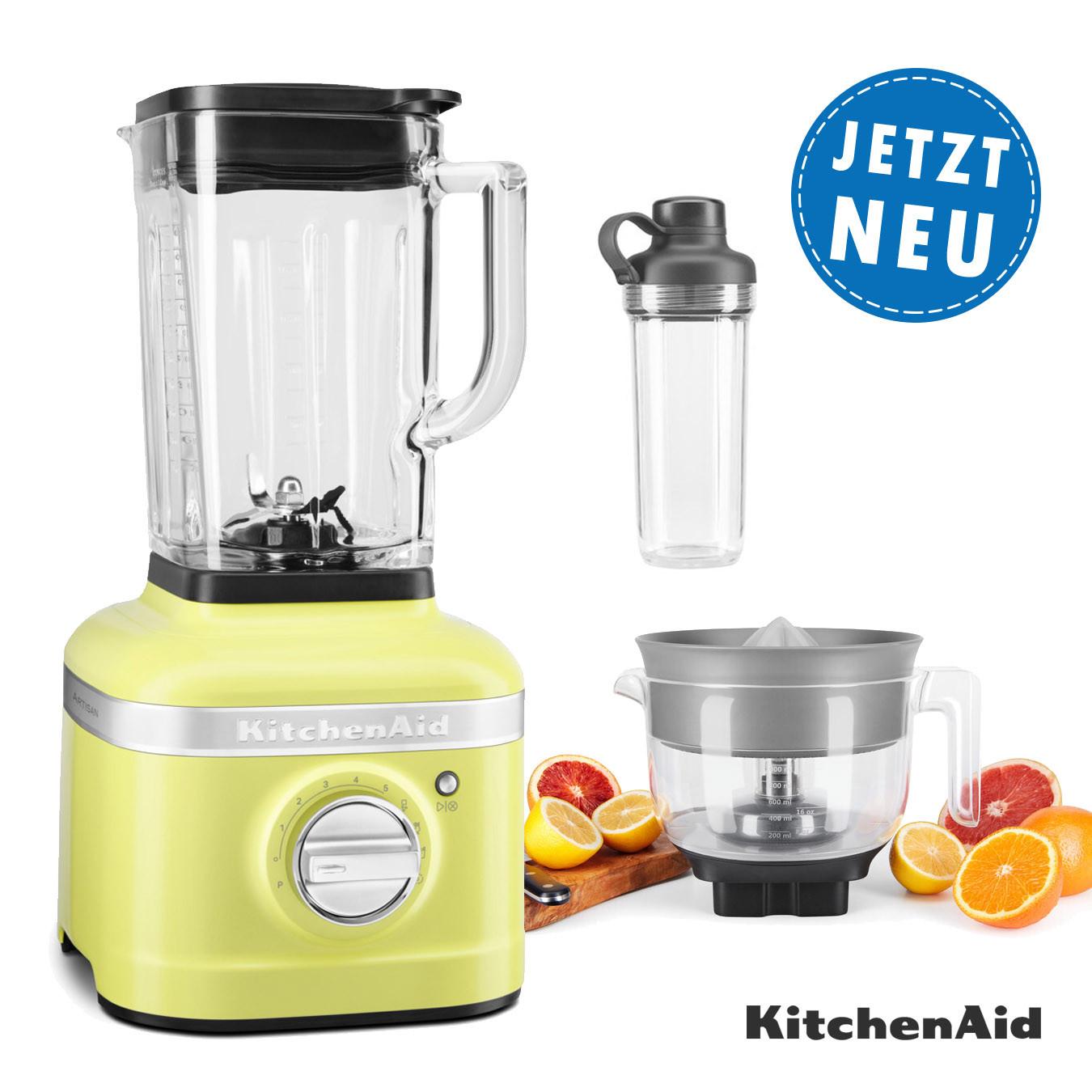 KitchenAid Standmixer K400 Sparpaket mit Zitruspresse und Mitnahmebhälter