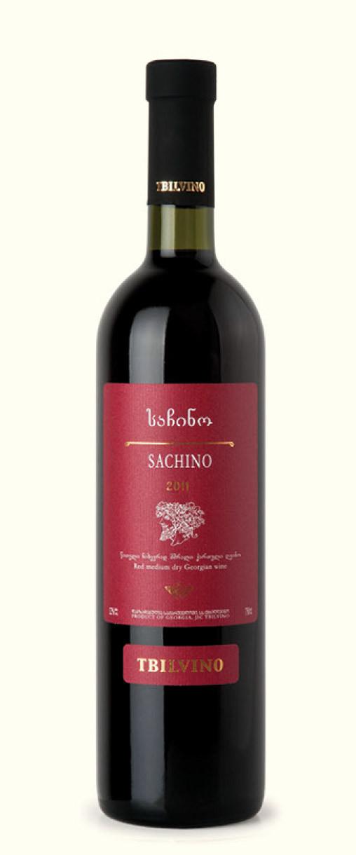 Tbilvino Sachino, halbtrockener Rotwein 0,75l Georgien