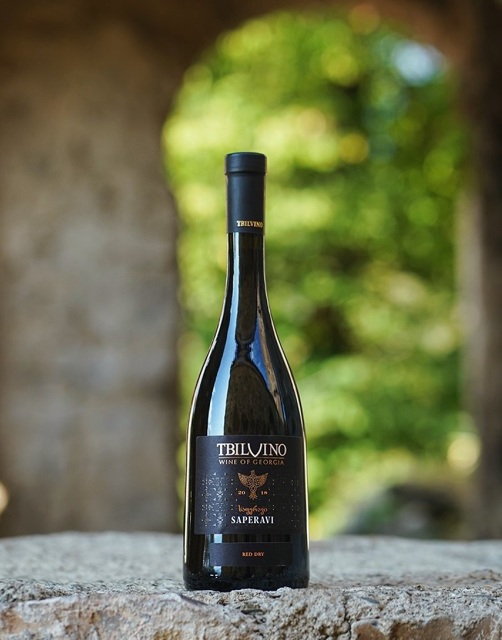 Tbilvino Saperavi Georgien trockener Rotwein 0,75 Liter 2018