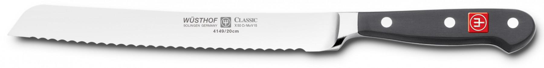 Wüsthof Dreizack Classic Messerblock 8tlg. schwarz Brotmesser